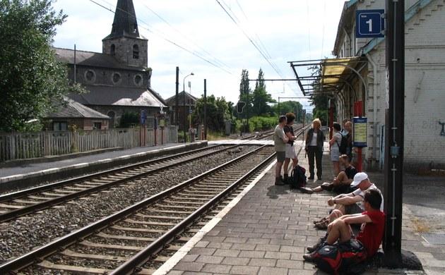 wandeling van station naar station